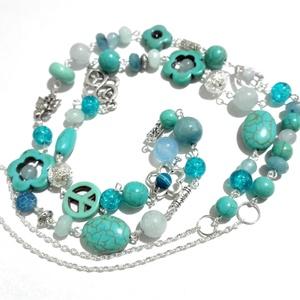 Kékség - ásványgyöngyös nyaklánc (leona974) - Meska.hu