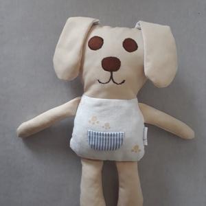 Kutyus koma, Játék & Gyerek, Plüssállat & Játékfigura, Kutya, Varrás, 27 cm felálló fülekkel 34 cm -es puha pamut kutyus antiallergén töltettel. \nSzeme orra, szája rávarr..., Meska