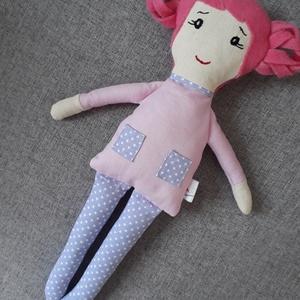 Lilike, Játék & Gyerek, Baba & babaház, Baba, Varrás, 33 cm magas ölelgetni való kis hölgy. \nPamutvászonból készült  amely ragasztós vatelinnel van megerő..., Meska