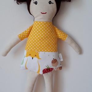 Napsugár , Játék & Gyerek, Baba & babaház, Baba, Varrás, 33 cm magas ölelgetni való kis hölgy. \nPamutvászonból készült  amely ragasztós vatelinnel van megerő..., Meska