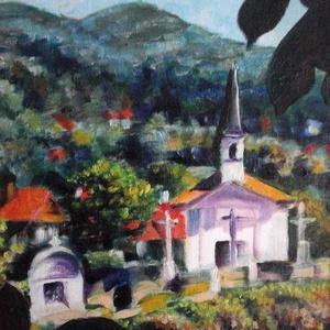 Szenttamás, Képzőművészet, Otthon & lakás, Festmény, Olajfestmény, Festészet, Le kellene festeni az összes elérhető kápolnát...valósággal hívogatják az embert.\n33x48 centiméteres..., Meska