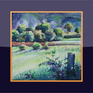 Ragyogó reggel, Művészet, Festmény, Akvarell, Festészet, 25x25 cm-es, keret nélküli akvarell. Tündöklő tavaszi reggel, éles fények...( A keret virtuális.)..., Meska