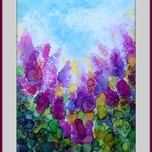 Orgona, Akvarell, Festmény, Művészet, Festészet, 25x17 cm-es speciális akvarell, fényes felülettel. Keret nélkül., Meska