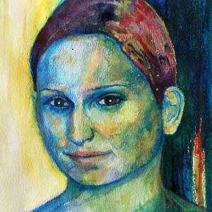 Színes portré - egyszemélyes, Gyerek & játék, Dekoráció, Otthon & lakás, Képzőművészet, Lakberendezés, Festészet, Fotó, grafika, rajz, illusztráció, Színes portré elkészítését vállalom fénykép alapján akvarell ceruzával és festékkel. A kép a3-as mér..., Meska
