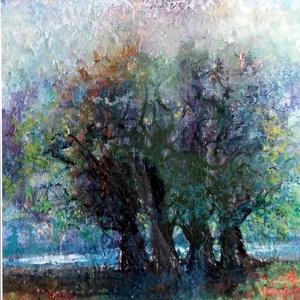 Négyen - akvarell festmény (Levay61) - Meska.hu