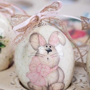 Csodás húsvéti tojás , Otthon & Lakás, Dekoráció, Decoupage, transzfer és szalvétatechnika, Légy egyedi , dekoráld otthonod , nem mindennapi ízlésesen díszített Húsvéti tojással vagy ajándékoz..., Meska