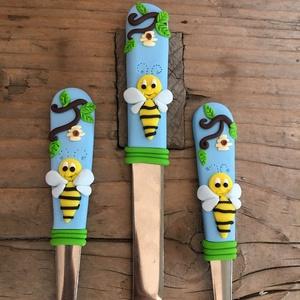 Méhecskés evőeszköz szett, Gyerek & játék, Konyhafelszerelés, Otthon & lakás, Egyéb, Gyurma, \n\nNagyszerű ajándék lehet kicsiknek és nagyoknak egyaránt. Ajánlom születésnapra ,névnapra ,de egyéb..., Meska