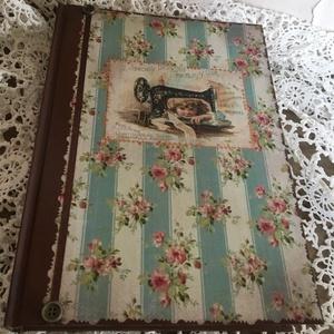 Vintage varrós napló, Otthon & Lakás, Papír írószer, Jegyzetfüzet & Napló, Ez a füzet nagyszerű választás bármilyen alkalomra ajándékként , de persze saját részre is :) Teljes..., Meska