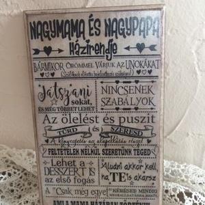 Egy tábla Nagymamának és Nagypapának, Dekoráció, Otthon & lakás, Kép, Anyák napja, Ünnepi dekoráció, Lakberendezés, Decoupage, transzfer és szalvétatechnika, Ezt a táblát Nagyiknak, Nagypapiknak készítettük , bármilyen alkalomra csodás választás :) Méret 24x..., Meska