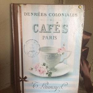 Vintage receptfüzet/napló, Otthon & Lakás, Konyhafelszerelés, Receptfüzet, Könyvkötés, Decoupage, transzfer és szalvétatechnika, Ez a füzet nagyszerű választás bármilyen alkalomra ajándékként , de persze saját részre is :)\nTeljes..., Meska