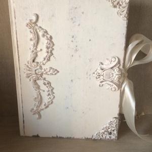 Vintage napló a legféltettebb titkaidnak, Otthon & lakás, Dekoráció, Naptár, képeslap, album, Jegyzetfüzet, napló, Egyéb, Könyvkötés, Decoupage, transzfer és szalvétatechnika, Ez a napló nagyszerű választás bármilyen alkalomra ajándékként , de persze saját részre is :), esküv..., Meska