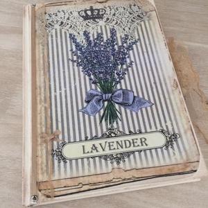 Levendulás vintage napló a legféltettebb titkaidnak, Otthon & Lakás, Jegyzetfüzet & Napló, Papír írószer, Ez a napló nagyszerű választás bármilyen alkalomra ajándékként , de persze saját részre is :), esküv..., Meska