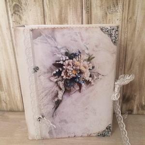 Esküvői fotóalbum, Album & Fotóalbum, Emlék & Ajándék, Esküvő, Decoupage, transzfer és szalvétatechnika, Nincs is szebb és maradandóbb ajándék mint egy szép fotóalbum és vendég könyv az ifjú párnak :) \nA f..., Meska