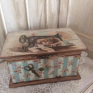 Vintage varrós dobozka  - Meska.hu