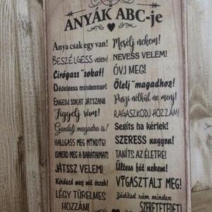 Anyák ABC-je tábla - Meska.hu