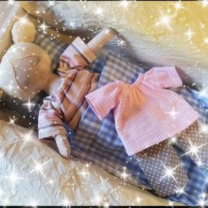 Micike textilbaba, Gyerek & játék, Játék, Baba, babaház, Baba-és bábkészítés, Varrás, 28 cm magas textilbaba levehető  ruhácskákkal, takaróval és párnával.\nTökéletes ajándék kislányoknak..., Meska