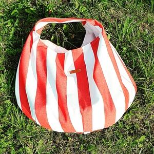 strandtáska, Válltáska, Kézitáska & válltáska, Táska & Tok, Varrás, \nEljött a nagymérerű táskák ideje, még ezen a nyáron hasznát veheted ennek a gyönyörűségnek.\nIdeális..., Meska