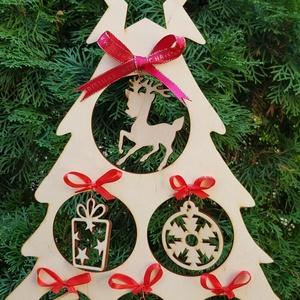 Lézervágott karácsonyfa, díszes fa, karácsonyi ablakdekoráció, karácsonyi asztali dísz (lezerdekor) - Meska.hu