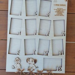 Különleges névre szóló képkeret születési adatokkal, Baba képkeret idézettel, Babaköszöntésre, 12 hónap 12 fotó - Meska.hu