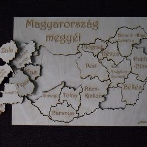 Magyarország megyéi kirakó (Lezerkincsestar) - Meska.hu