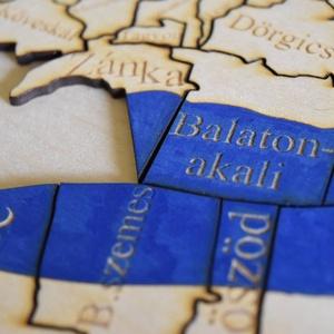 Balaton és környéke kirakó (Lezerkincsestar) - Meska.hu