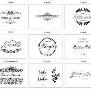 Alternatív vendégkönyv, fotóalbum, esküvői fotóalbum, esküvői vendégkönyv A5 méretben, világos gravírozással (lfekete) - Meska.hu