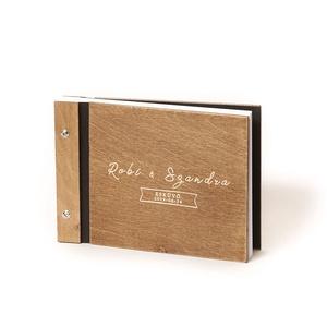 Instax, POLAROID fotóalbum, világos gravírozással, fényképalbum, A5 méretben, esküvői fotóalbum, fotókönyv, Album & Fotóalbum, Emlék & Ajándék, Esküvő, Famegmunkálás, Könyvkötés, Instax, Polaroid képhez, vagy 40 db-nál több fotó beragasztásához. Dupla gerinccel készítem, így a f..., Meska