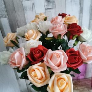 Rózsaszál vegyesen, Csokor & Virágdísz, Dekoráció, Otthon & Lakás, Virágkötés, Habrózsából készült rózsaszál 900 ft /szál vegyes színekben elérhető, Meska