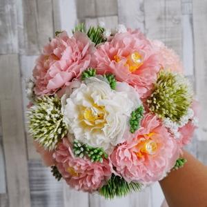 Menyasszonyi örök csokor esküvőre selyemvirágból, Esküvő, Menyasszonyi- és dobócsokor, Mindenmás, Virágkötés, Menyasszonyi csokor selyemvirágból, Meska