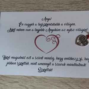 Anyák napi köszönőlap fém szívvel, Esküvő, Emlék & Ajándék, Mindenmás, anyák napi ajándék, Meska