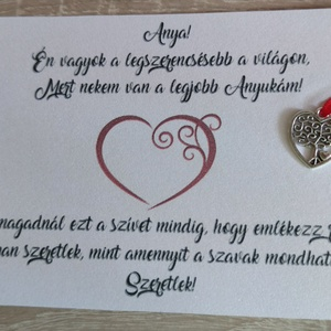 Anyák napi köszönőlap fém szívvel - Meska.hu