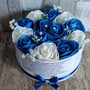 Szülőköszöntő ajándék esküvőre kék-fehér, Esküvő, Szülőköszöntő ajándék, Emlék & Ajándék,  Mivel megrendelésre készülnek a termékek így készleten nincsenek az elkészítési idő kb 10 munkanap ..., Meska