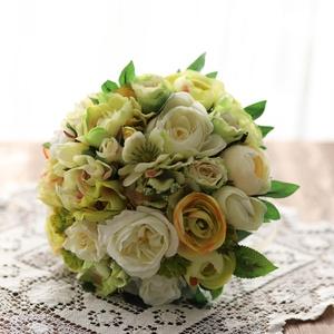 Menyasszonyi csokor, örök csokor, örökcsokor, Esküvő, Menyasszonyi- és dobócsokor, Menyasszonyi- és dobócsokor, Virágkötés, Mindenmás, Minőségi selyem  virágokból készült menyasszonyi csokor, örök csokor. ( Bézs, vanília, sárgás- zöld ..., Meska