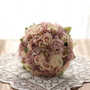 Menyasszonyi csokor , örök csokor , örökcsokor, Esküvő, Menyasszonyi- és dobócsokor, Menyasszonyi- és dobócsokor, Mindenmás, Virágkötés, Minőségi selyem virágokból készült örök csokor. Kreatív fotózáshoz,  dobó csokornak is használhatod...., Meska