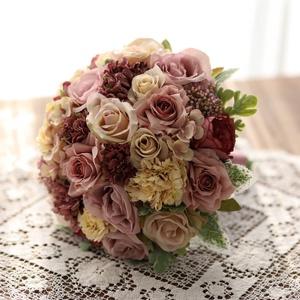 Menyasszonyi csokor, örök csokor, örökcsokor, Esküvő, Menyasszonyi- és dobócsokor, Menyasszonyi- és dobócsokor, Mindenmás, Virágkötés, Pazar színekkel pompázó menyasszonyi csokor. Antik lila, bézs, különleges színvilág. Kreatív fotózás..., Meska