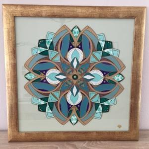 Mandala - Mértékletesség, Otthon & lakás, Dekoráció, Kép, Képzőművészet, Festmény, Lakberendezés, Falikép, Festészet, Az üvegfestés csodálatos világa eljuttatott a mandalák készítéséhez is. Alkotásuk azóta is fogva tar..., Meska