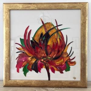 Vadvirág, Művészet, Festmény, Festmény vegyes technika, Festészet, Üvegre festett mezei-vad virágom  csodás színekben pompázik.\nAz élet, az erő. a szépség jelképe.\nKer..., Meska