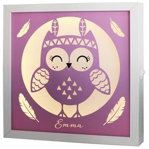 Elemes ledes éjjeli fény gyerekszobába - OWL01, Otthon & Lakás, Lámpa, Hangulatlámpa, Mindenmás, Egyedi grafikával készült elemmel működő LED-es éjjeli fény. Nappal a gyerekszoba kedves kiegészítőj..., Meska