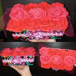 Piros rózsabox, Otthon & lakás, Dekoráció, Dísz, Mindenmás, Piros színű rózsabox. Kérhető bármilyen táblácskával!\n, Meska