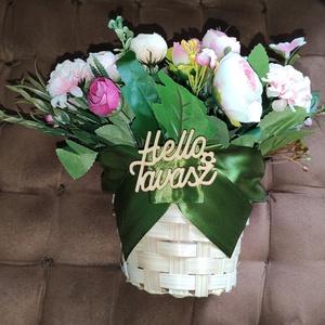 Ajándék kaspó választható táblával, Otthon & lakás, Dekoráció, Lakberendezés, Asztaldísz, Mindenmás, Virágkötés, Névnap, szülinap, anyák napja pótlása, vagy csak nincs ötleted, mit ajándékozz? Kaspó örök virágokka..., Meska