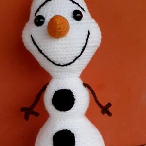 Olaf, Játék & Gyerek, Plüssállat & Játékfigura, Horgolás, Tökéletes Karácsonyi ajándék a Jégvarázs mese kis hőse Olaf .30 cm magas,bizonsági szemekkel ellátot..., Meska