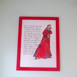 Szövegek és kalligráfiák, Otthon & lakás, Képzőművészet, Grafika, Festészet, A kalligráfiámhoz készítettem illusztrációkat.\nA legtöbb szöveget irodalmi klasszikusokból vettem va..., Meska