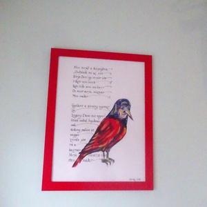 Szöveg és illusztráció, Otthon & lakás, Képzőművészet, Illusztráció, Festészet, A kalligráfiámhoz készítettem illusztrációkat.\nA legtöbb szöveget irodalmi klasszikusokból vettem va..., Meska