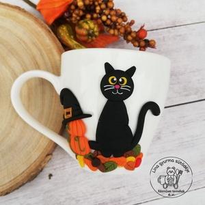 Őszi hangulatú cicás kávés csésze - Meska.hu