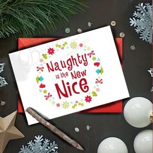 Karácsonyi Képeslap, Adventi Képeslap, Karácsonyi vicces lap, Karácsonyi üdvözlőlap, Otthon & Lakás, Karácsonyi képeslap, Karácsony & Mikulás, A/6-os méretű Igényes Egyedi Karácsonyi képeslap, piros borítékkal.   A saját magam által tervezett ..., Meska