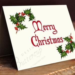 Vintage Karácsonyi Képeslap, Adventi Képeslap, Karácsonyi lap, Karácsonyi üdvözlőlap (LindaButtercup) - Meska.hu