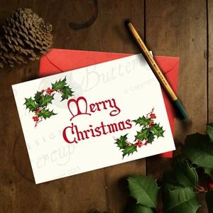 Vintage Karácsonyi Képeslap, Adventi Képeslap, Karácsonyi lap, Karácsonyi üdvözlőlap, Karácsony, Karácsonyi ajándékozás, Karácsonyi képeslap, üdvözlőlap, ajándékkísérő, Fotó, grafika, rajz, illusztráció, Mindenmás, Meska