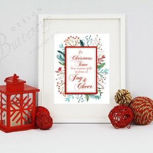 Karácsonyi Kép dekor, Adventi Kép, Téli Kép, Karácsonyi Dekoráció, , Karácsonyi dekoráció, Karácsony & Mikulás, Otthon & Lakás, Festészet, Fotó, grafika, rajz, illusztráció, A/4-es méretű nyomtatott kép, Print lap. \nKeret nélkül\n\n250 g matt, finoman texturált kiváló minőség..., Meska