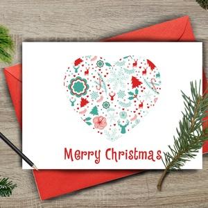 Karácsonyi Képeslap, Adventi Képeslap, Karácsonyi Dekoráció, Karácsonyi üdvözlőlap, Ünnepi képeslap , Karácsonyi képeslap, Karácsony & Mikulás, Fotó, grafika, rajz, illusztráció, Mindenmás, A/6-os méretű Igényes Egyedi Karácsonyi képeslap, piros borítékkal.\n\n\nA saját magam által tervezett ..., Meska