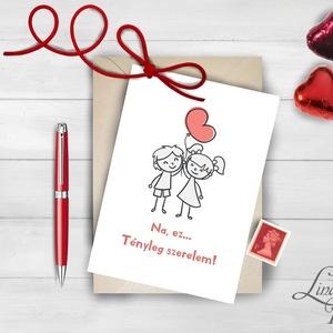 Valentin napi Képeslap, Szeretlek Képeslap, Valentin üdvözlőlap, I love you, Szerelmes, Szív képeslap, vicces (LindaButtercup) - Meska.hu